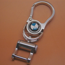 customize China wholesale bulk stock cheap zinc alloy laser car brand keychain/car key logo