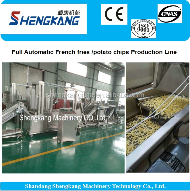 350kg/h Diesel Fully-Automatic Fresh Potato Chips Machine Mnaufacturer, Complete line of Chips Making Machine