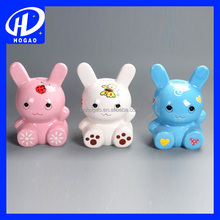 hot sell cheap rabbit shaped ceramic coin bank