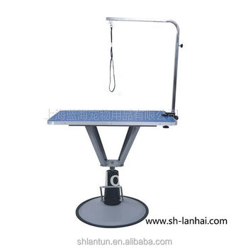 Hydraulic Dog Grooming Table with Round Base