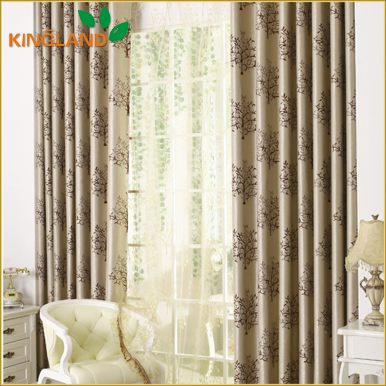 2016 new fashion design jacquard curtains in lahore Pakistan