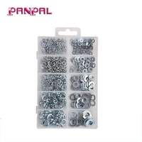 500pcs Zinc Plated Flat and Lock Washer Assortment Kit