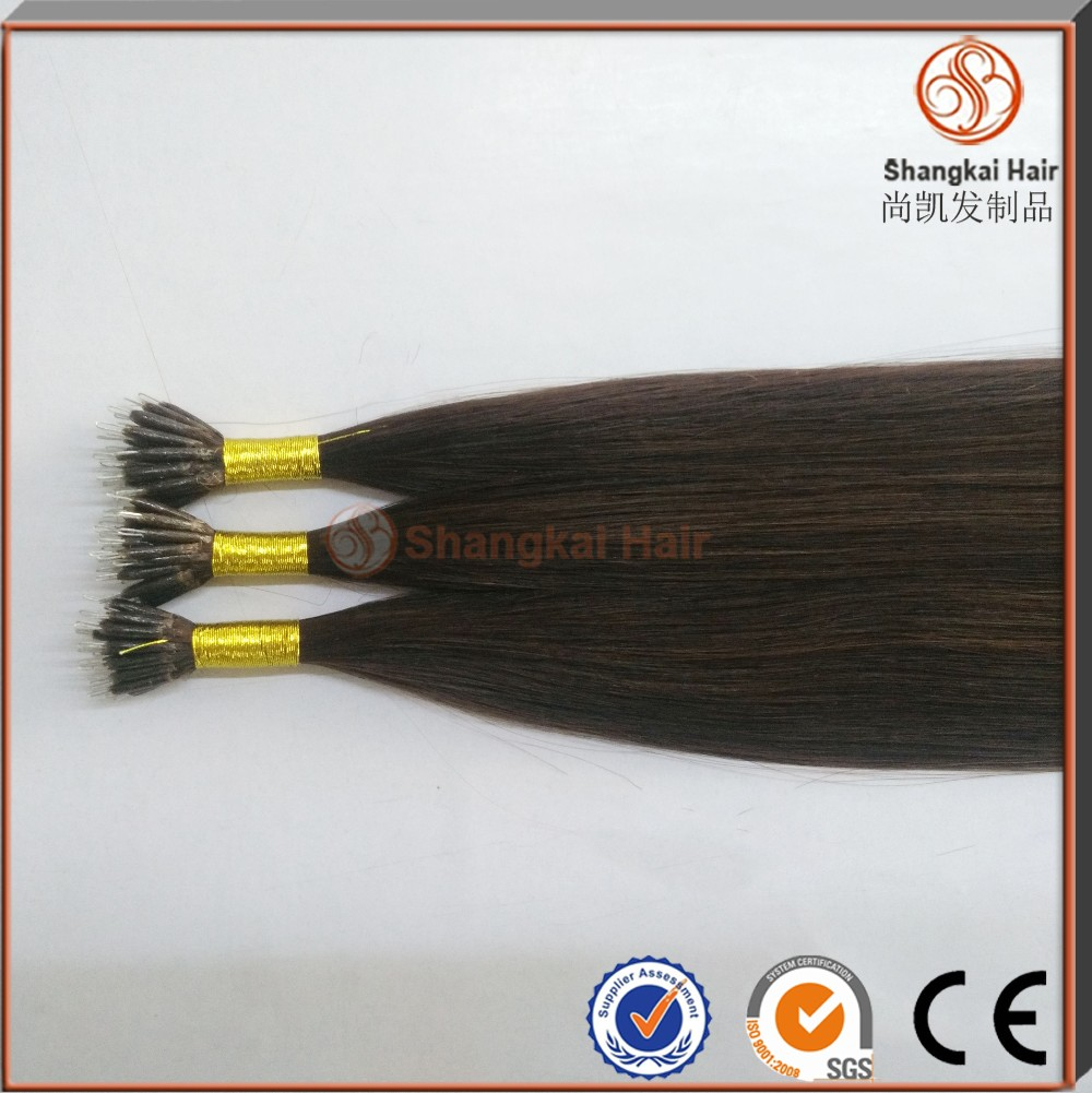 Top quality cheap price remy human brazilian hair extension Natural Nano ring hair extension