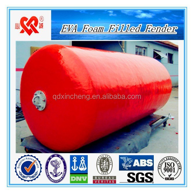 Offshore ocean surface marine anchor pendant chain through pick up mooring fishing buoys EVA foam filled buoys