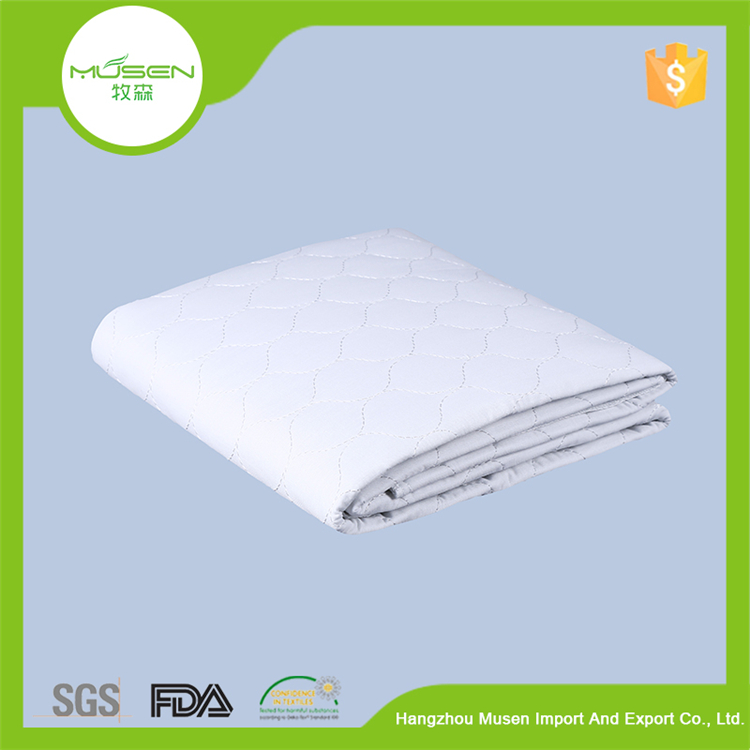 New Products Bedroom Furniture Sleep Well Thin Quilted Anti-Slip Waterproof Crib Mattress Pad