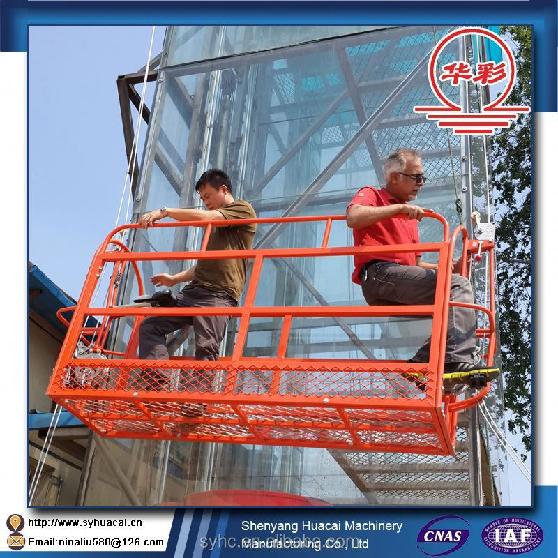 Aluminum Alloy Suspended Platform Elevation Platforms For Outer Wall Construction