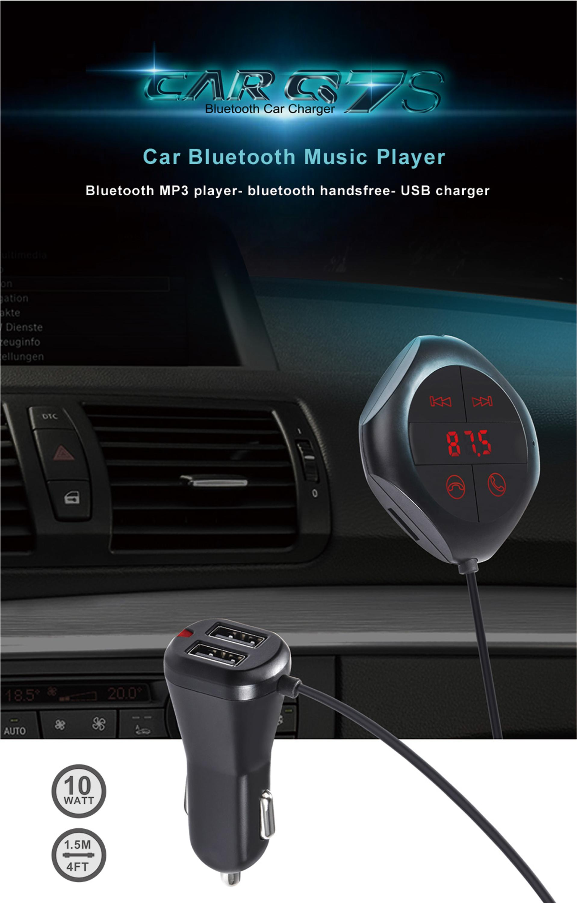 GXYKIT New products BT transmitter car Audio Q7S car music players
