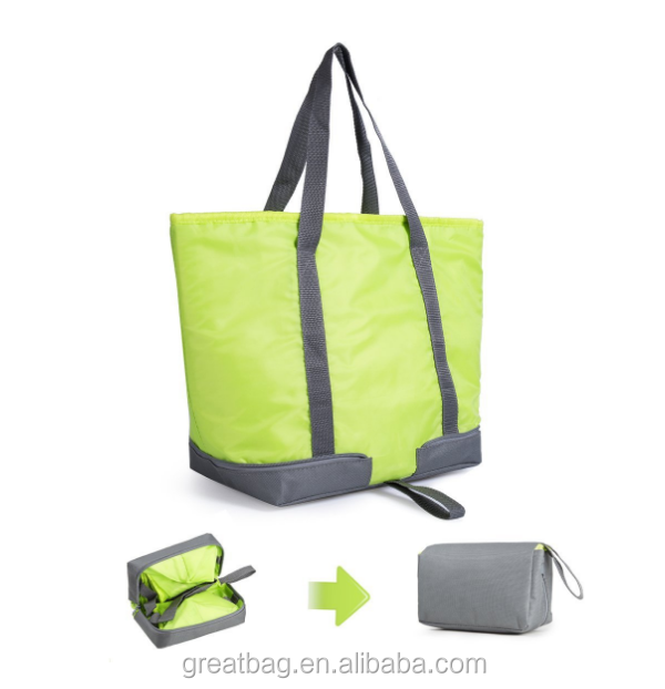Insulated Outdoor Picnic Tote Cooler Lunch Bag Collapsible Grocery Cooler Bag