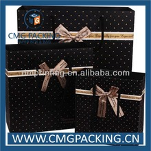 Eco friendly black paper bag for gift