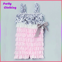 Ruffle lace romper bubble plain white baby clthes solid color infant rompers