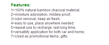 Bamboo Charcoal Natural Air Purifying Bags for Remove Toxic Bacteria and Odor