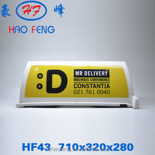 HF43 Universal car roof advertising usage led taxi top advertising