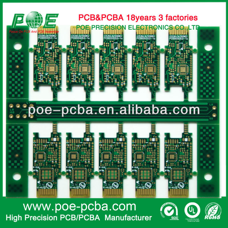 12Layer Gold Finger Mulitilayer PCB Circuit Board