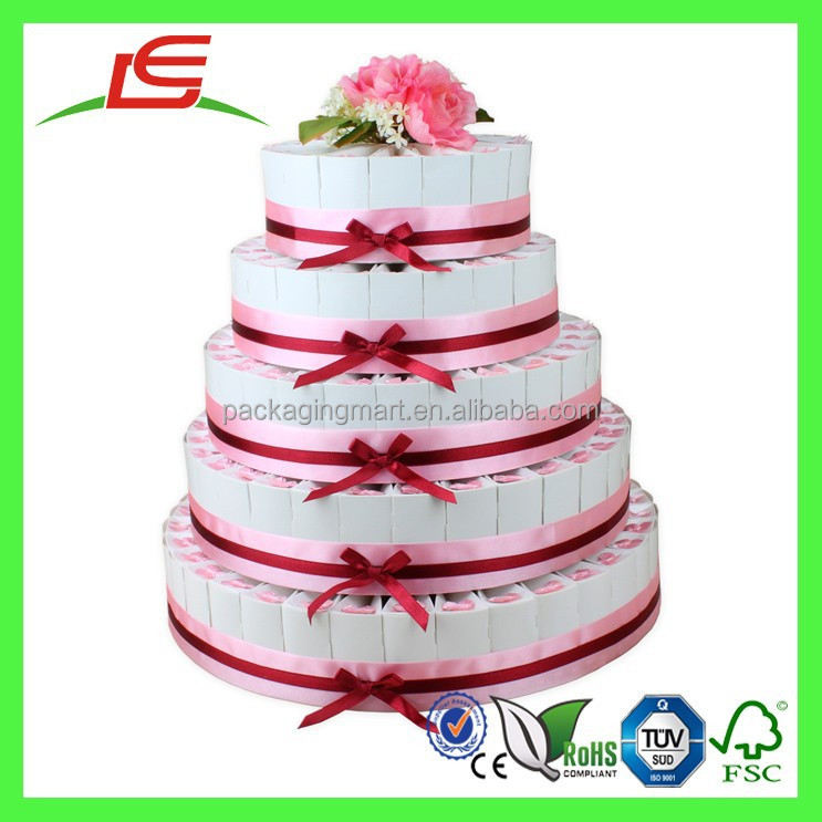 Q1146 Decorate Cheap Wedding Cake Favor BoxWedding Cake Display Stand Wholesale In China