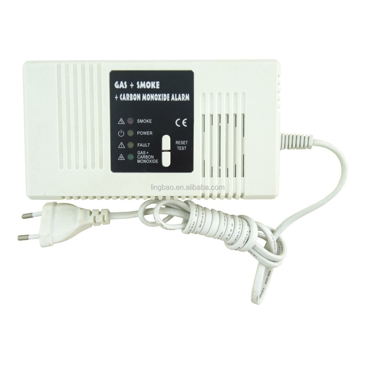 Smoke Gas Carbon Monoxide Detector with Power Supply and Networking Function Rechargeable Battery