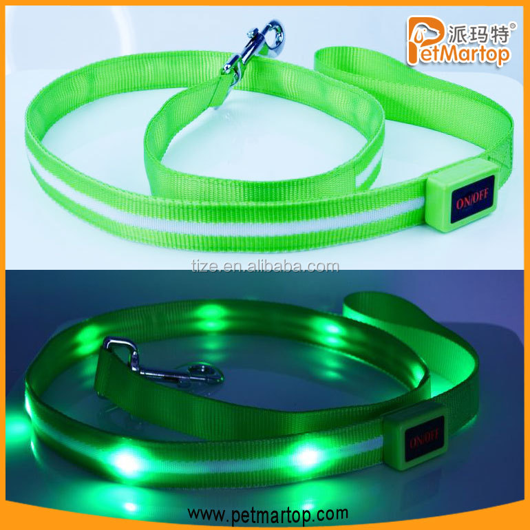 Beautiful pet leash TZ-PET6102 led flashing dog leash for christmas