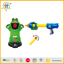 Most sold funny electric crocodile child toy foam soft ball gun for sale