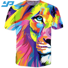 2017 custom cotton 3d sublimation printing men's t shirt wholesale