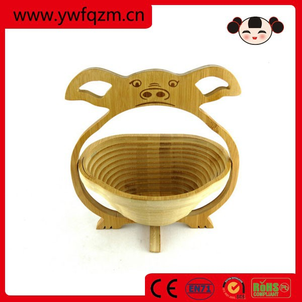 Wholesale folding wooden fruit basket factory