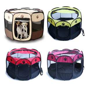 Pet playpen foldable portable Soft sided pet playpen outdoor dog playpen with Eight Panels