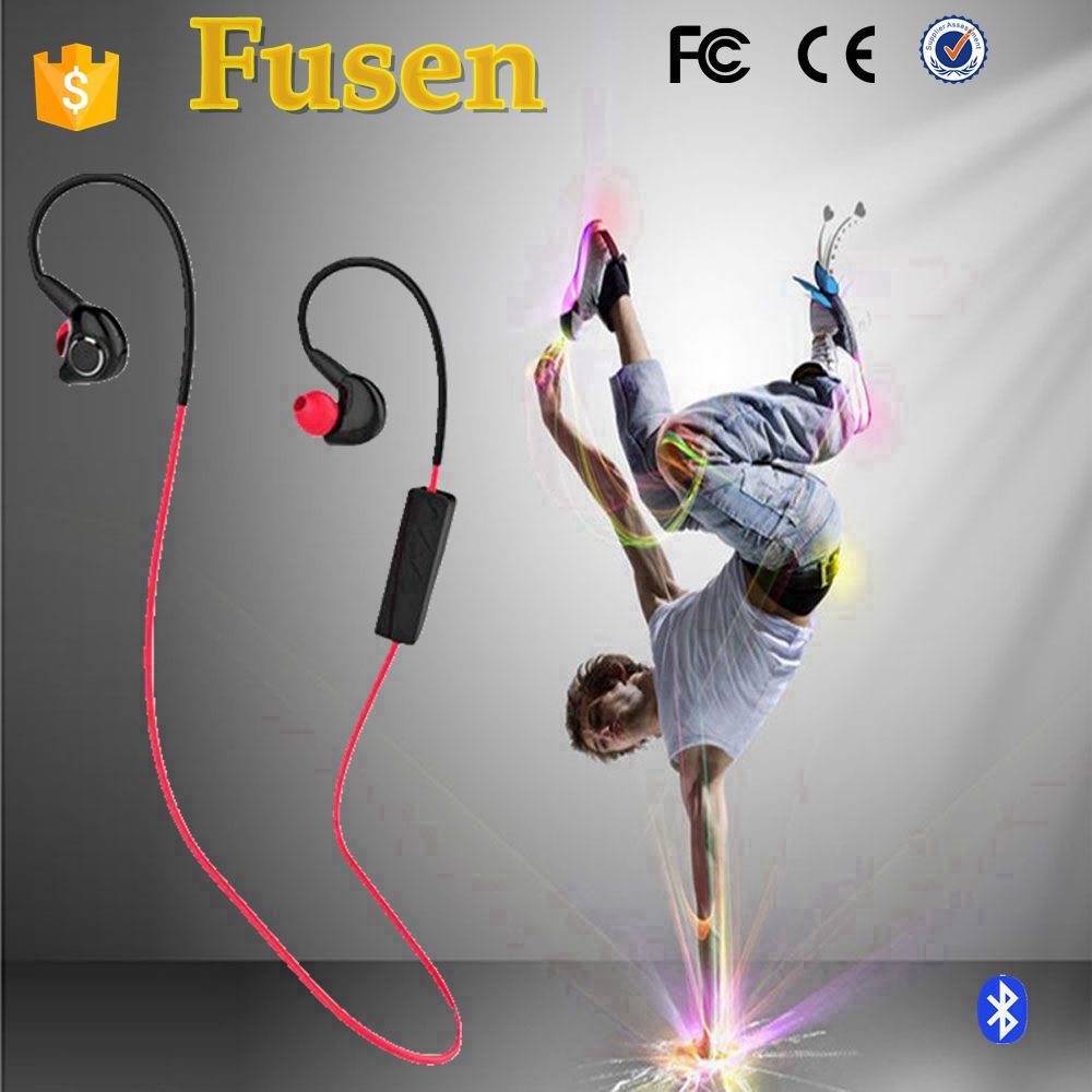 new black mini wireless bluetooth earphone for sport with CE RoHs in-ear headset headphone with adjustable earhook