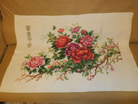 Chinese Peony home decoration handmade folk craft cross stitch