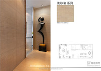 sand stone ceramic tile eco function 3d art tile Korea imported