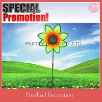 Sun flower style Plastic windmills for gardem decoration