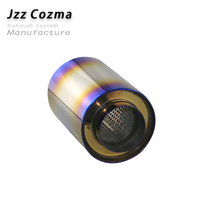 JZZ cozma colorful exhaust tips for motorcycle pipe exhaust muffler