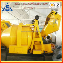 hot sale diesel concrete mixer with steel wire rope paddle and wheels