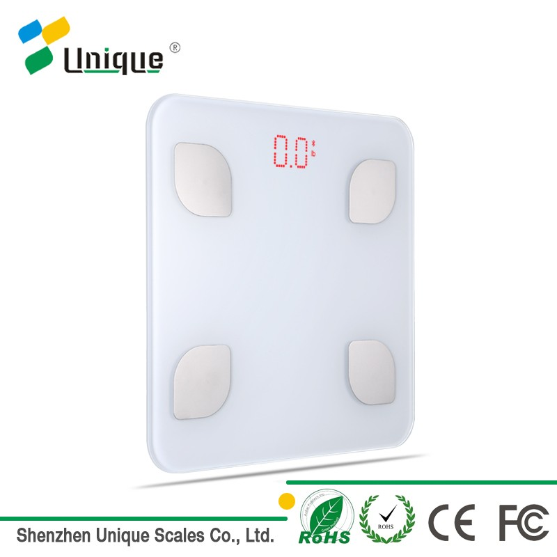 bluetooth led digital body hydration muscle bone analyser bathroom scales