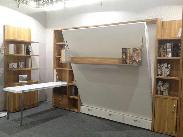 High quality save space bed king size murphy bed designs - Space saving king size bed ...