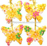 Wooden Colorful Butterfly Stickers