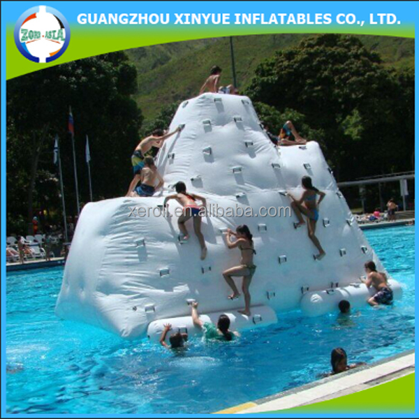 Hot sale kids safty inflatable iceberg inflatable water rock climbing wall