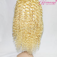 Homeage 2015 new arrival crazy wonderful customized long blonde wig