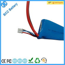 High capacity 7.4V 3000mAh li-ion battery pack rechargeable