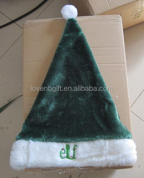 Green ELF Plush Chrismas hat