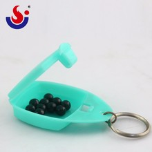 Cute Travel Hot Sale Key Chain Pill Box,Pill Case