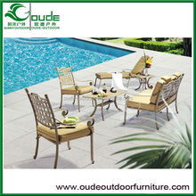 cast aluminium table and chairs sets single double sofa