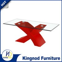 Alibaba Super September Purchasing China manufacture Black And Red Coffee Table