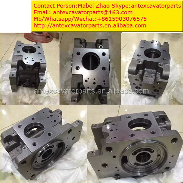 Kawasaki Gear Pump Parts K3V180DT Pump Cap Assembly For Hyundai Excavator
