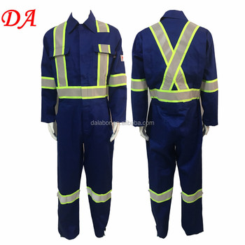 cotton nylon 88/12 refletive stripe flame retardant coverall