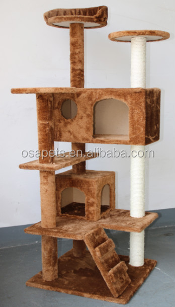 Eco-friendly cat tree cat scratching tree with sisal