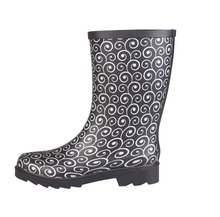 2018 new design warm slip resistant overshoe clouding ladies popular rubber rain boots wholesale