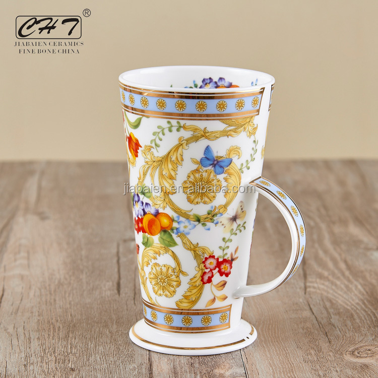 wholesale elegant mug from china with fine porcelain as gift