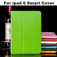 Genuine Leather HOCO Slim Smart Case For iPad 6 Air 2 Leather Flip Stand Wallet Cover Tablet Protecive Skin