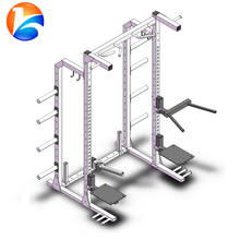 Fitness power half rack squat cage