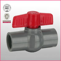 """HJ"" pvc pipe fitting valves for water industries oil gas compact ball valve"
