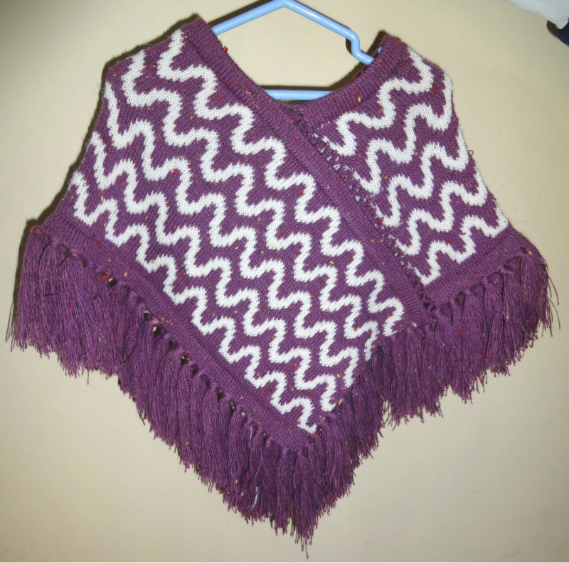 knitted winter Poncho