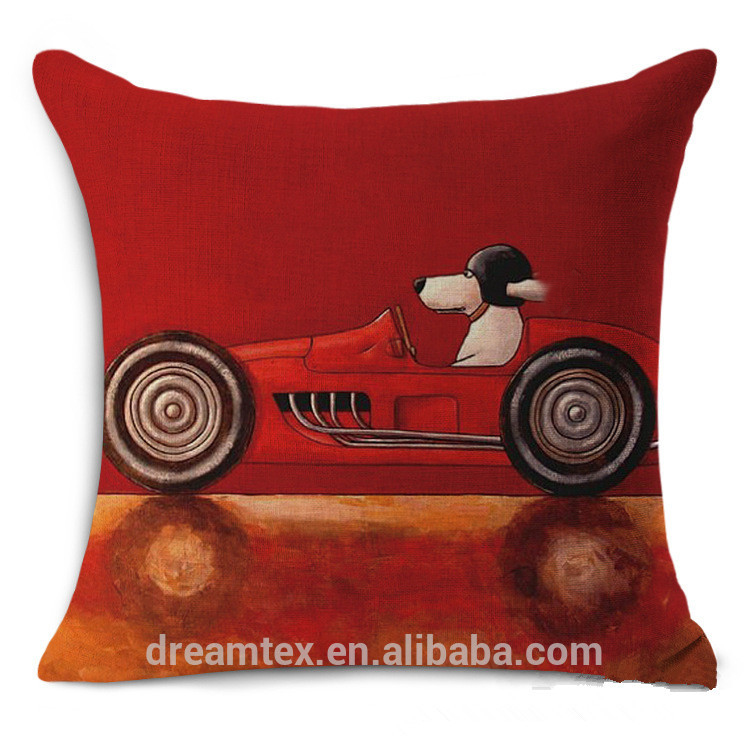 Cotton linen blending oem logo custom design printing sublimation digital printed outdoor decorative cushion cover